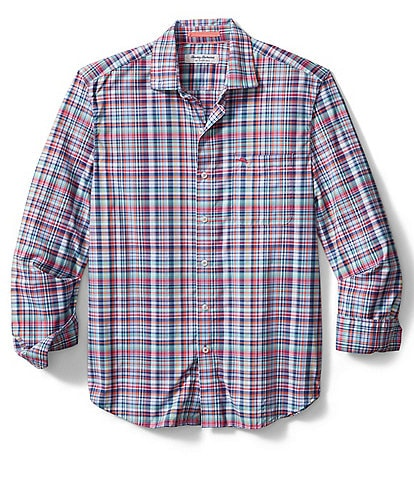 Tommy Bahama IslandZone Siesta Key Kona Check Performance Long-Sleeve Woven Shirt
