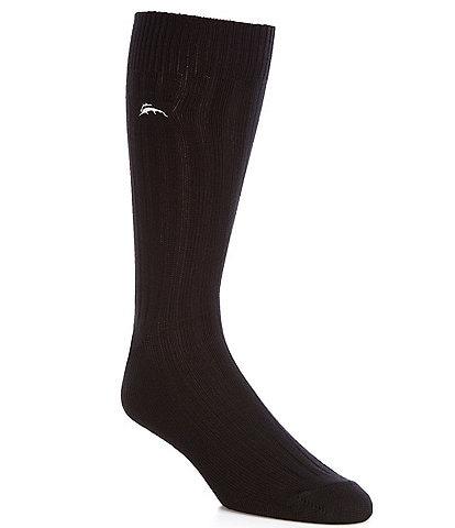 Tommy Bahama Modal Rib With Marlin Crew Socks