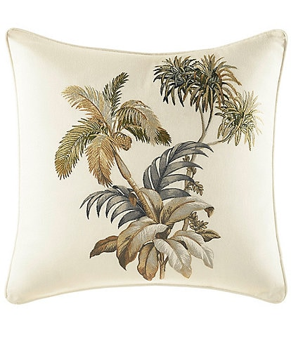 Tommy Bahama Nador Palm-Embroidery Square Pillow