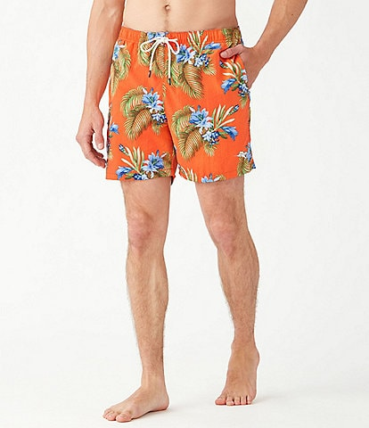 Tommy Bahama Naples Nassau Blooms 6#double; Inseam Swim Trunks