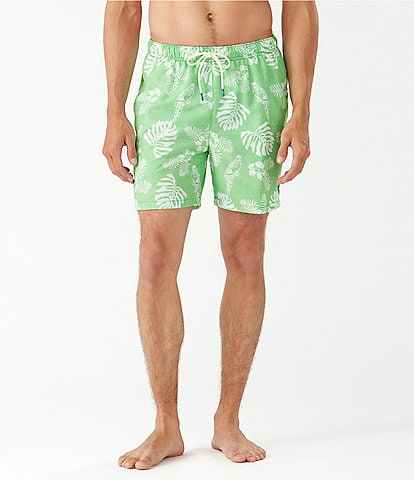 Tommy Bahama Naples Parrot in Paradise 6#double; Inseam Swim Trunks