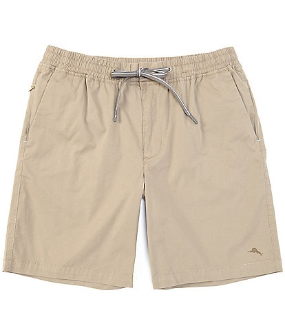 Tommy Bahama Oceanside Poplin Pull-On 8#double; Inseam Shorts