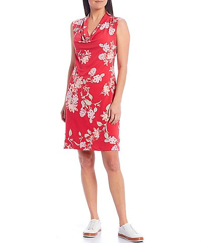 Tommy Bahama Petal Of Honor Cowl Neck Dress