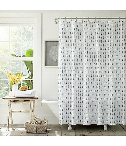 Tommy Bahama Pineapple Pinstripe Shower Curtain