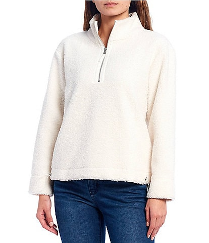 Tommy Bahama Salma Sherpa Quarter Zip Funnelneck Pullover