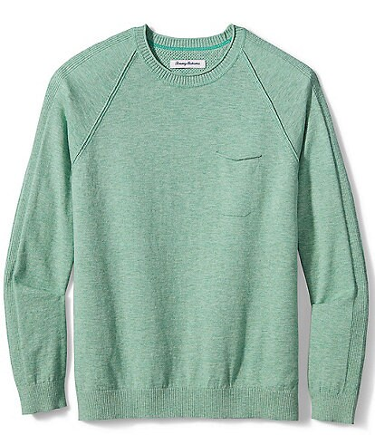 Tommy Bahama Sea Mist Pocket Crew Long-Sleeve Sweatshirt