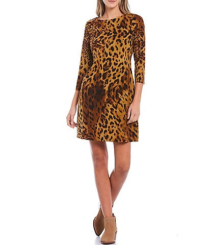 Tommy Bahama Serengeti Leopard Spots 3/4 Sleeve Dress
