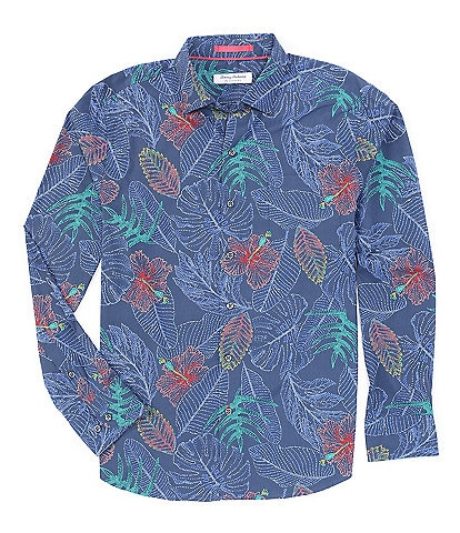 Tommy Bahama Siesta Key Etched Fronds Long-Sleeve Woven Shirt