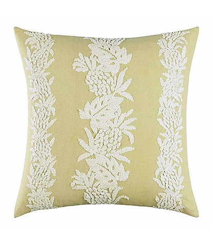 Tommy Bahama Siesta Key Pineapple Stripe Square Pillow