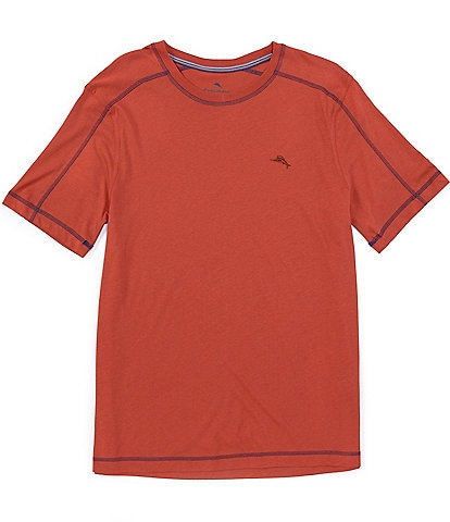 Tommy Bahama Solid Short Sleeve Crew Neck Knit Jersey T-Shirt