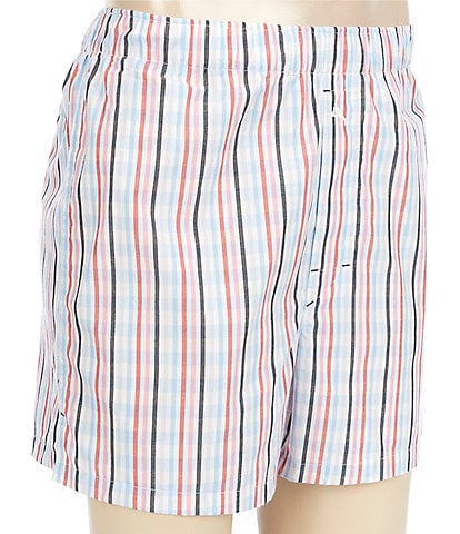 Tommy Bahama Stripe Plaid Woven Boxers
