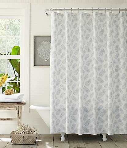 Tommy Bahama Tossed Pineapple Shower Curtain
