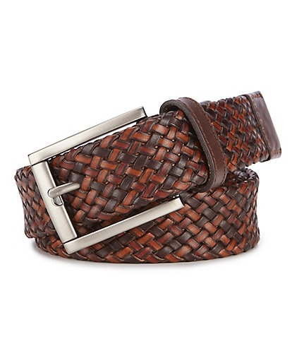 Tommy Bahama Tri-Color Braid Leather Casual Belt