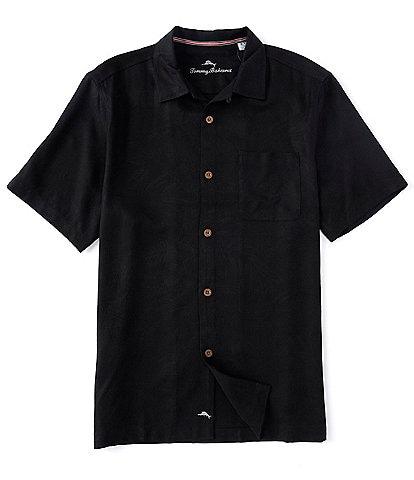 Tommy Bahama Solid Tropic Isle Short-Sleeve Woven Camp Shirt