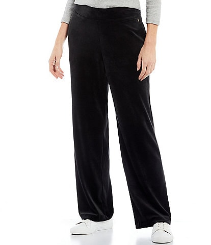 Tommy Bahama Velour Relaxed Straight Leg Pull-On Pants