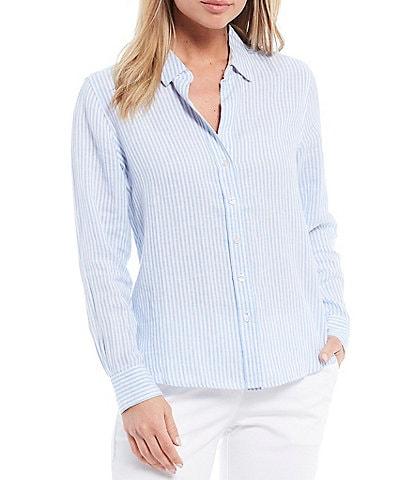 Tommy Bahama Yacht Me Knot Long Sleeve Linen Blend Shirt