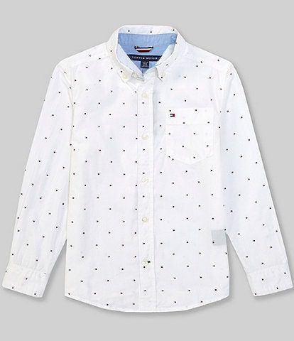Tommy Hilfiger Big Boys 8-20 Long-Sleeve Fred Button-Front Shirt
