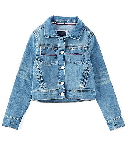 Tommy Hilfiger Big Girls 7-16 Embroidered Denim Jacket