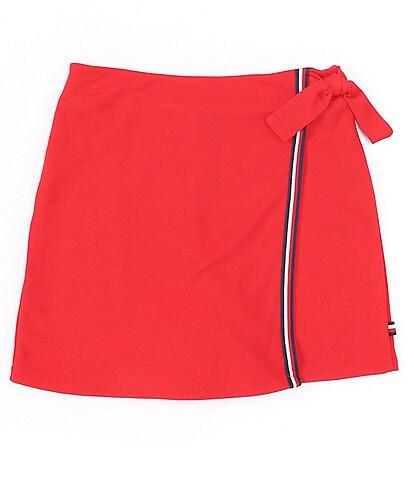 Tommy Hilfiger Big Girls 7-16 Tie-Front Global Striped Wrap Skort