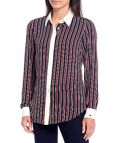 Tommy Hilfiger Tjw Smock Longslv Print Blouse Blusa para Mujer
