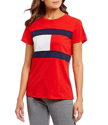 Tommy Hilfiger Flag Logo Short Sleeve Knit Tee