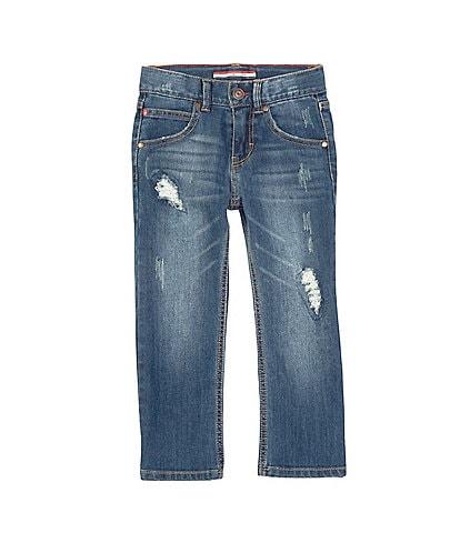 Tommy Hilfiger Little Boys 2T-7 Destructed Straight-Fit Denim Jeans