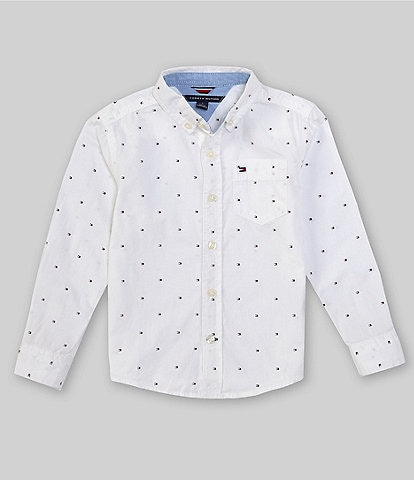 Tommy Hilfiger Little Boys 2T-7 Long-Sleeve Fred Button-Front Shirt