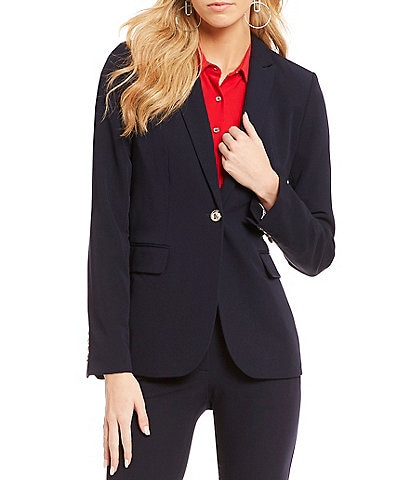 Tommy Hilfiger Peak Lapel One-Button Jacket