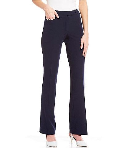 Tommy Hilfiger Seasonless Stretch Woven Suiting Bootcut Leg Pants