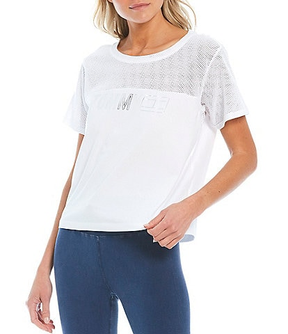 Tommy Hilfiger Sport Cropped Short Sleeve Crew Neck Top