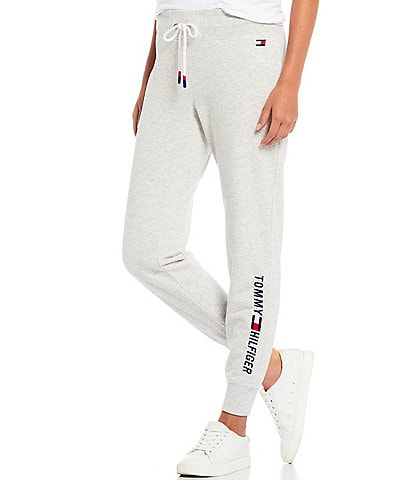 Tommy Hilfiger Sport Heritage Embroidered Logo Rib Cuff Fleece Joggers