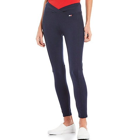 Tommy Hilfiger Sport High Rise Crossover Waist Ribbed Legging