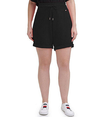 Tommy Hilfiger Sport Plus Flag Logo Mid-Length Cuffed 8#double; Active Shorts