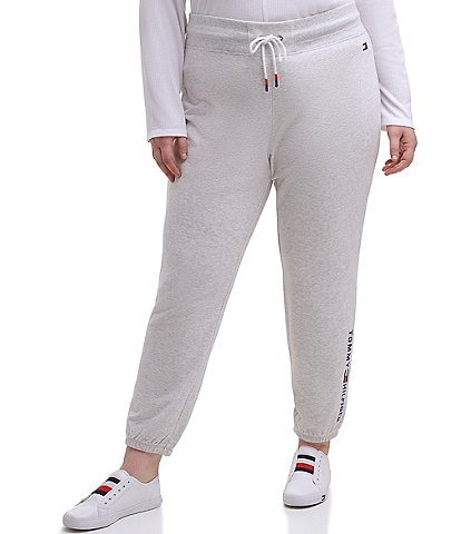Tommy Hilfiger Sport Plus Size Embroidered Logo Elastic Ankle Joggers