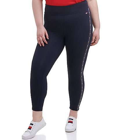Tommy Hilfiger Sport Plus Size High Rise Microtape Leggings