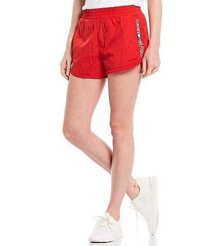 Tommy Hilfiger Sport Side Logo Running Pocket Pull-On Shorts