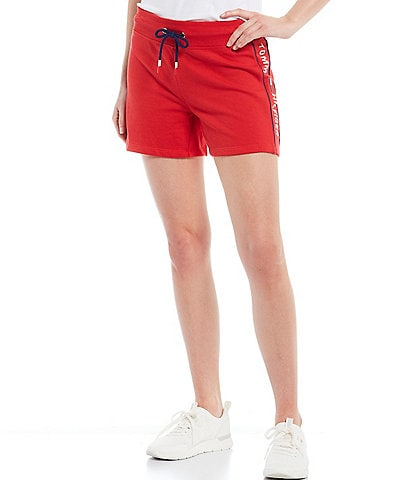 Tommy Hilfiger Sport Tommy Flag Embroidery Side Piped Terry Shorts