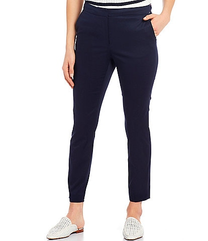 Tommy Hilfiger Stretch Cotton Twill Elastic Back Ankle Pants