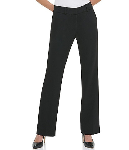 Tommy Hilfiger Sutton Stretch Woven Flat Front Boot Leg Pant