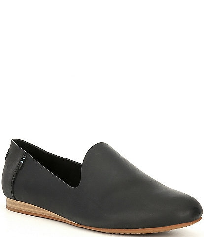 TOMS Darcy Leather Flat Loafers