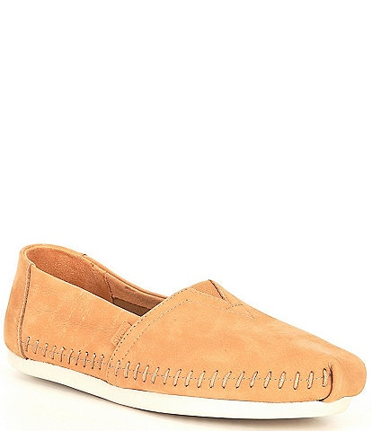 TOMS Women's Alpargata Leather Slip-Ons