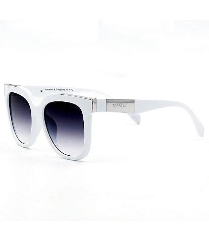 TOPFOXX Coco White Sunglasses