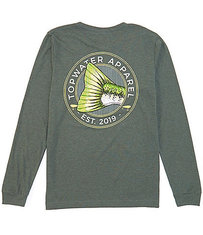 Topwater Bass Badge Long-Sleve Graphic T-Shirt