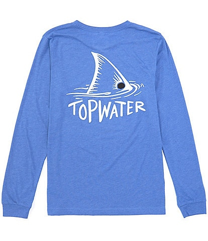 Topwater Redfish Fin Long-Sleve Graphic T-Shirt