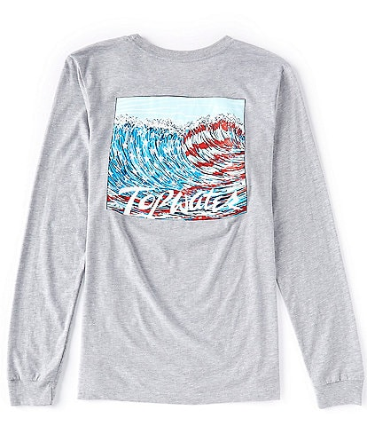 Topwater Wave Flag Long-Sleeve Graphic T-Shirt