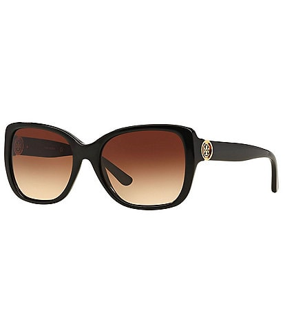 Tory Burch Iconic Reva Logo Square Sunglasses