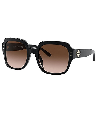 Tory Burch Oversized Square Logo Sunglasses