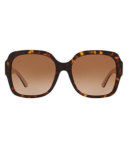 Tory Burch Reva Oversized Square 57mm Sunglasses