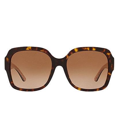 Tory Burch Reva Oversized Square 57mm Sunglasses