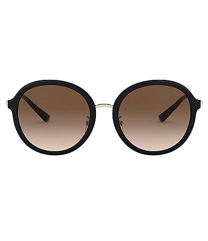 Tory Burch Round Metal Temple Sunglasses